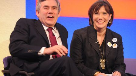 Former prime minister Gordon Brown with psychologist Professor Tanya Byron. Picture: PA Archive/Fion