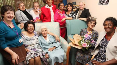Ms Iren Sinclair celebrates her 105th birthday among friends and family at Olive Cox Lodge.