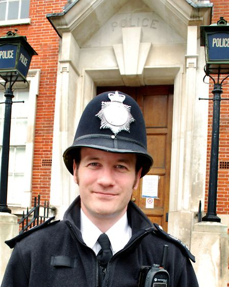 Sgt Ryan Keating outside Hampstead Police Station, which closed in June. Picture: Polly Hancock