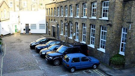 The warehouse in Oldbury Place, Marylebone, that could be replaced with three townhouses