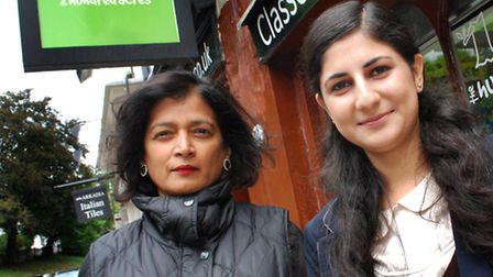 Kareen Muhammed outside The Hundred Acres toy shop with owner Asia Burrows. Picture: Polly Hancock.