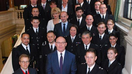 Police commendations ceremony at Camden Town Hall on 20.09.13. Awards presented by Borough Commander