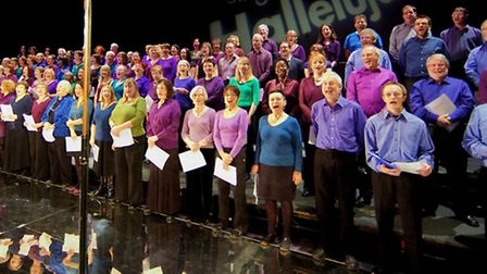 The Hackney Singers perform for the BBC Sing Hallelujah event at the London Colliseum
