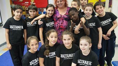 Actress Mandy Holliday leads theatrical workshop at Razzamataz . Picture: Nigel Sutton