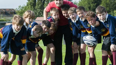 Under 10 Rugby Tournament hosted by UCS Junior Branch. USC Team with Wales International Alex Walker
