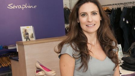 Cecile Reinaud founder of international maternity fashion label Seraphine at her store in Hampstead