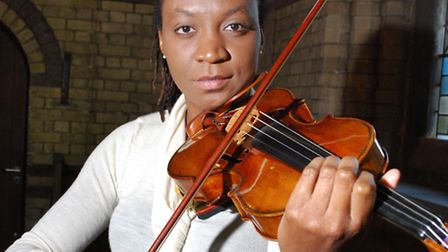 Violinist Tai Murray at St Stephen's. Picture: Polly Hancock