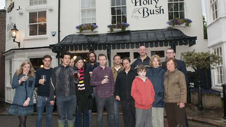 Residents campaigning to save The Holly Bush pub from being turned into a restaurant. Picture: Nigel