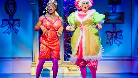 The Ugly Sisters in Cinderella at the Hackney Empire