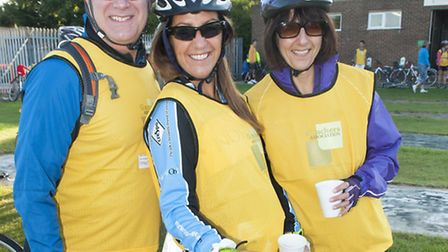 Gauchers Association London to Cambridge Cycle Riders. Picture: Nigel Sutton