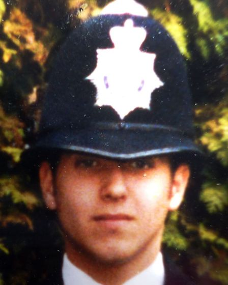 Former police officer and cocaine addict Nicholas Conn in his uniform
