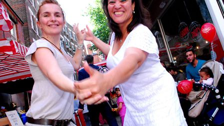 Dancing in the streets at GAIL's Garden Party in Oriel Place last year