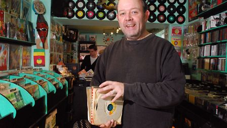 Neil Scott, manager of Sounds That Swing record shop. Picture: Polly Hancock