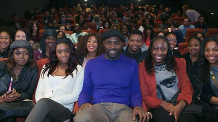 Idris Elba visits Hackney Picturehouse to speak to school pupils as part of National Youth Film Fest