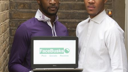 Jor'el Mitchell and Servais Louis, founders of FaceBUSKS.