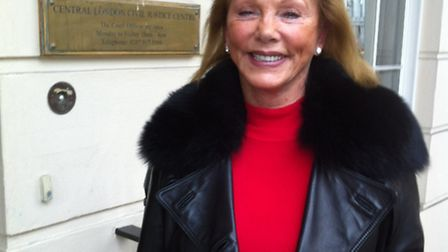 Katie Graff outside Central London County Court after the hearing
