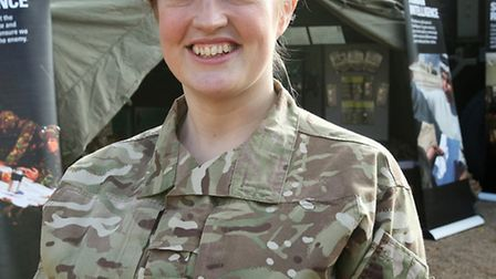 Cpl Pam French, 36, a financial services executive, who is also an Army Reservist with 33 Company in