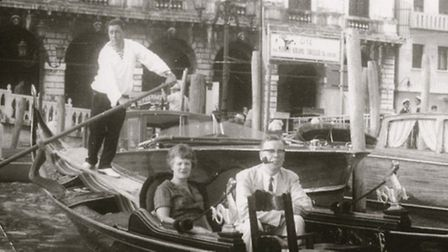 Dr Ian Dougas-Wilson with wife Betty in Venice during the 1950s