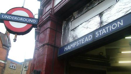 The artworks include depictions of life in Hampstead