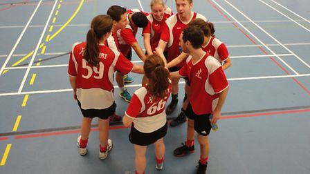 The Highbury korfball team, who are based at Swiss Cottage Leisure Centre