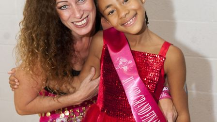 Nine-year-old beauty queen Marianna and her mum Lorena Panunzio, who are holding a charity zumbathon