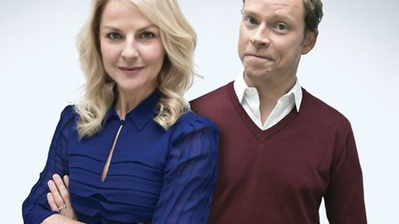 Sarah Hadland and Robert Webb who appear in RAVING by Simon Paisley Day, directed by Edward Hall.