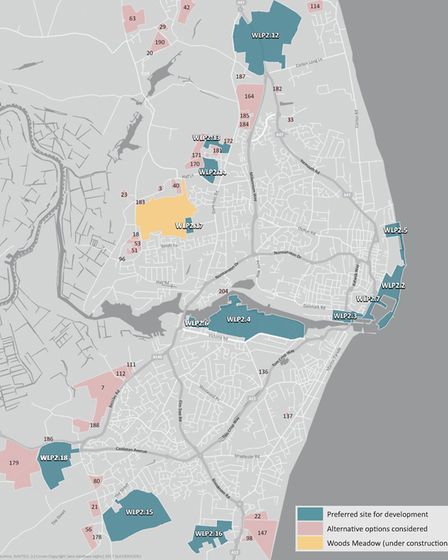 The strategy for Lowestoft included in Waveney's draft Local Plan. Picture: Waveney District Council