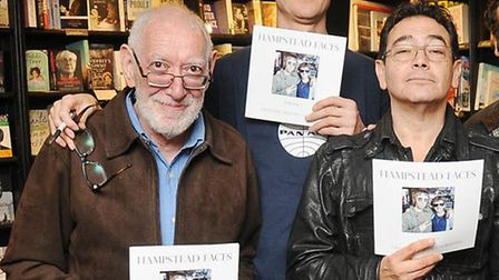 Hampstead Faces writer Emmanuel 'Mustafa' Goldstein (middle left) with Hampstead residents George 'R