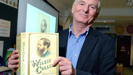 Author Andrew Lycett at a reading of his book about Wilkie Collins at Primrose Hill Library