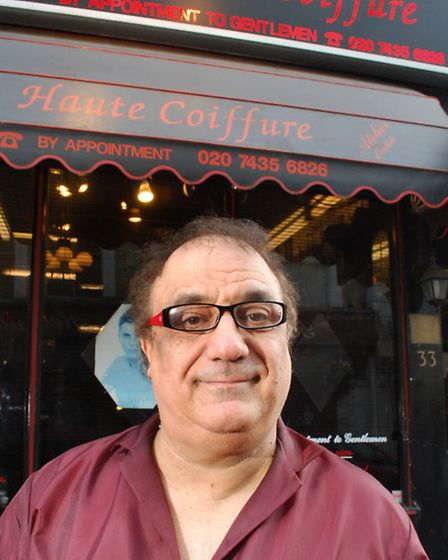 Hairdresser Peter Anthony outside the salon he ran for 28 years. Picture: Polly Hancock