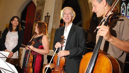 Belsize Music Festival at St Peter's Church NW3 on 05.10.13. Pictured the Festival Piano Quartet, fe