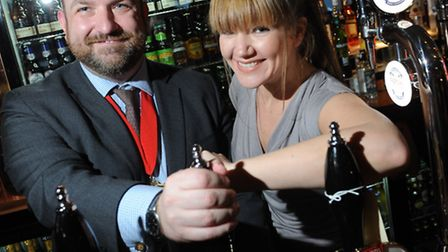 Cllr Jonathan Simpson, the Mayor of Camden, got behind the bar at the reopening of The George in Bel