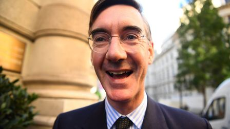 Donald Tusk accused Jacob Rees-Mogg (pictured) and the Brexiteers of being responsible for all of th