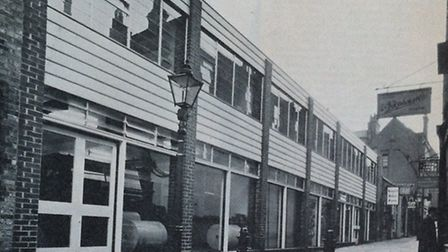 The building in Perrin's Court photographed in 1962 for The Architects & Building News.