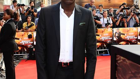 Daniel Kaluuya arrives at the premiere of Johnny English Reborn, the film he starred in alongside Ro
