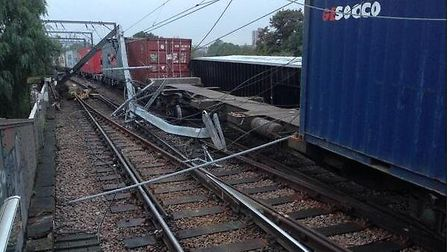 The goods tain derailed near Camden Road London Overground Station in the early hours of the morning