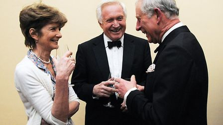 Prince Charles with David Dimbleby (centre). Picture: Dieter Perry
