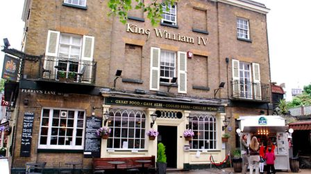 The King William IV pub has been ordered to take down the structures. Picture: Polly Hancock