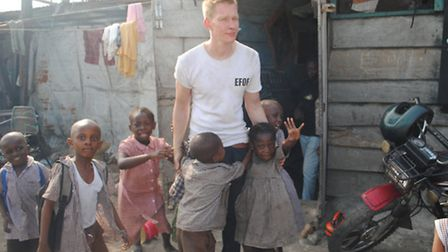 David Boyd with children from Old Fadama
