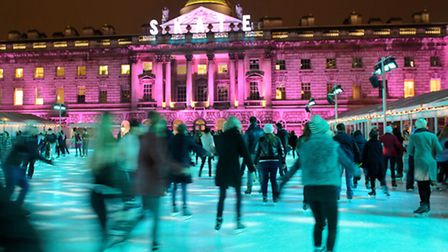It is hoped the open air ice rink at JW3 in Hampstead will rival Somerset House. Picture: Ben Pruchn