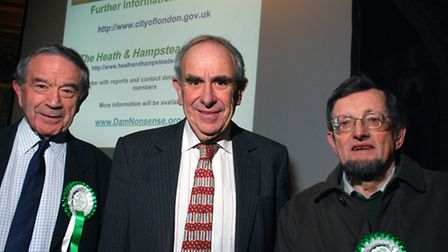 The Heath and Hampstead Society's Dam Nonsense campaign is launched at a public meeting at St Stephe