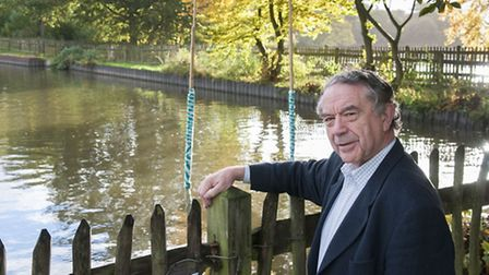 Tony Hillier, chairman of the Heath and Hampstead Society, at the Model Boating Pond. This view woul