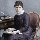 Kate Greenaway, 1880. Portrait of the children's book author at her desk in 1901. Picture: Lebrecht