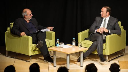Kevin Spacey in conversation with Alan Yentob at JW3. Picture: � Blake-Ezra Photography Ltd Not f