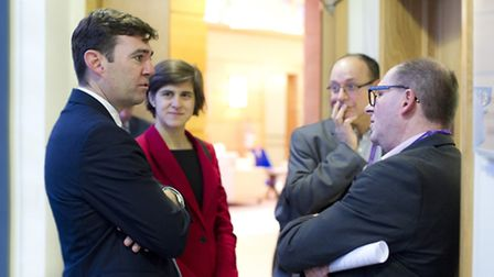 Shadow secretary of health Andy Burnham MP with Labour party candidate for Finchley and Golders Gree