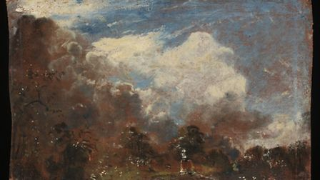 The new oil sketch was found on the back of Constable's Branch Hill Pond: Hampstead. Picture: Victor