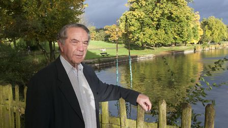 Tony Hillier, chairman of the Heath and Hampstead Society, at the Model Boating Pond