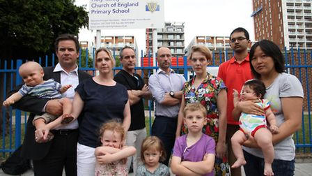 Hackney residents oppose the construction of a seven story block of flats on top of Holy Trinity Chu