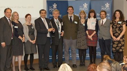 A specialist service from City and Hackney were named Psychiatric Team of the Year at the Royal Col