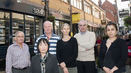 Residents and traders in Perrin's Court are fighting a planning application to build another floor o